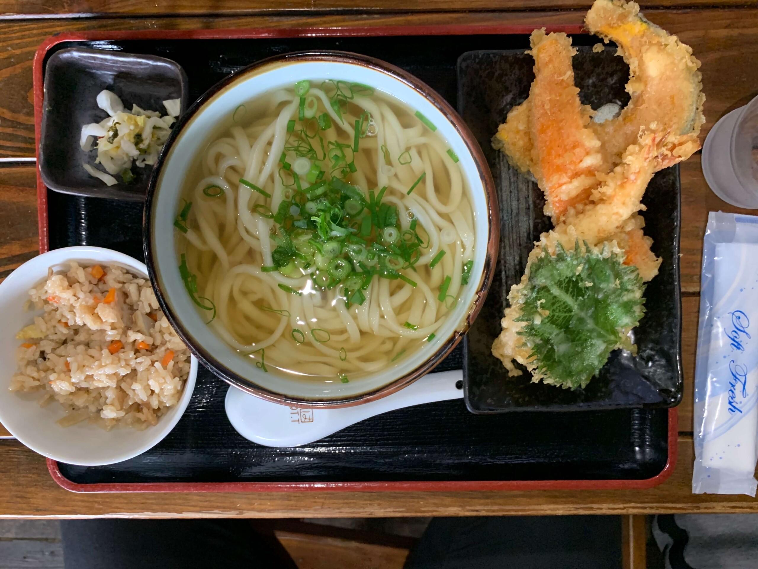 福山大隈えび野菜うどんセット