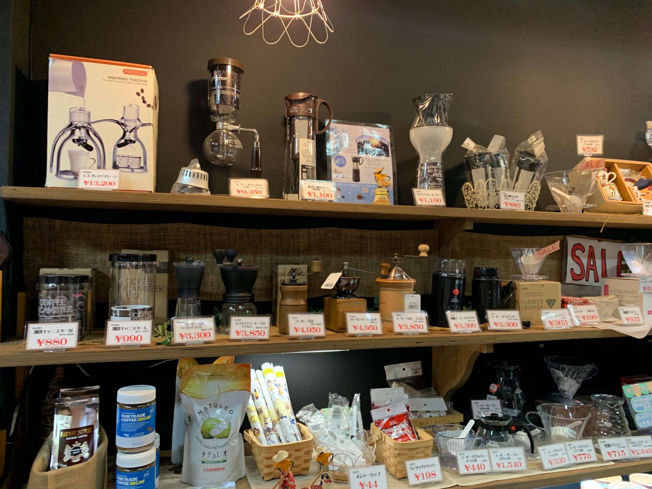 福山コーヒーショップCORO店内