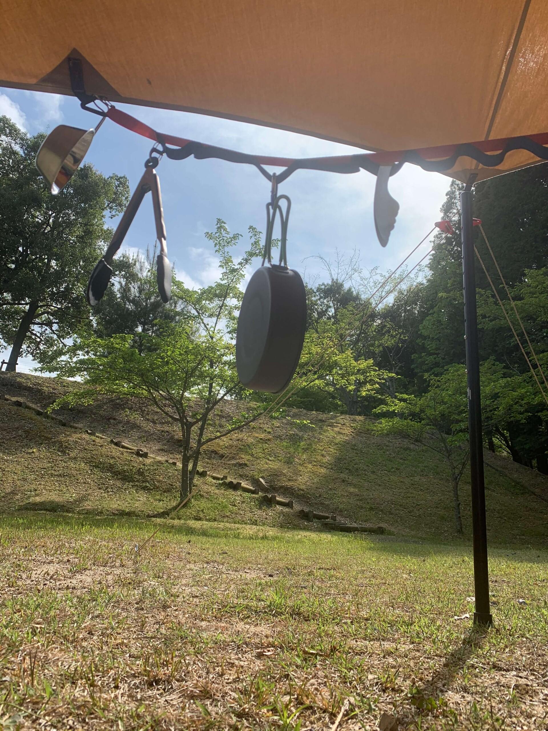福山羽高湖キャンプ場テント内