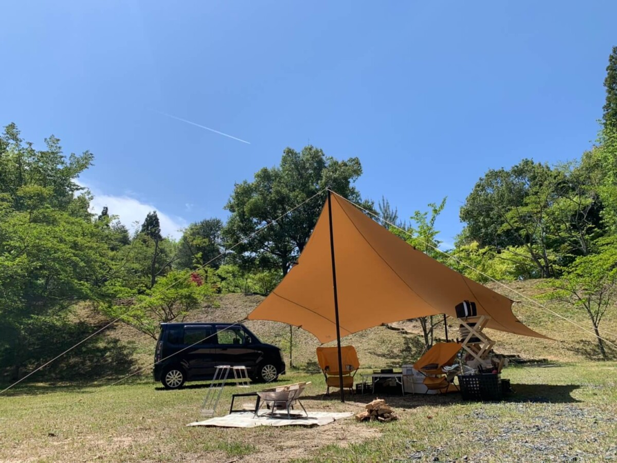 福山羽高湖キャンプ場MYテント